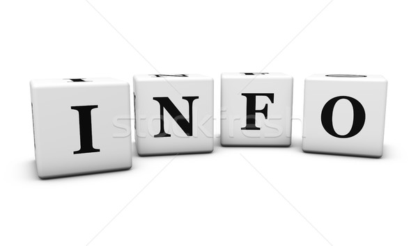 Info słowo stronie Internetu podpisania Zdjęcia stock © NiroDesign