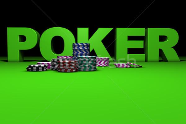 Gambling Concept Poker Sign Stock photo © NiroDesign