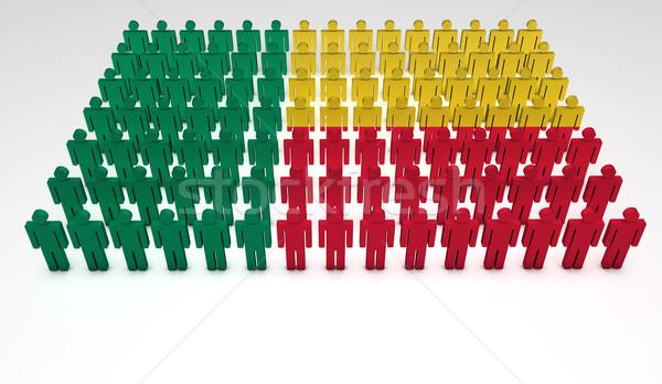 Бенин флаг парад 3d люди Top мнение Сток-фото © NiroDesign