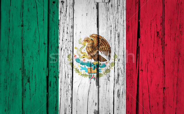 Mexico Flag Grunge Background Stock photo © NiroDesign