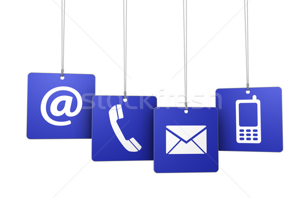 Contact Us Web Internet Tags Stock photo © NiroDesign