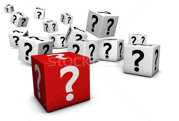 Question Mark Symbol On Cubes Stock photo © NiroDesign