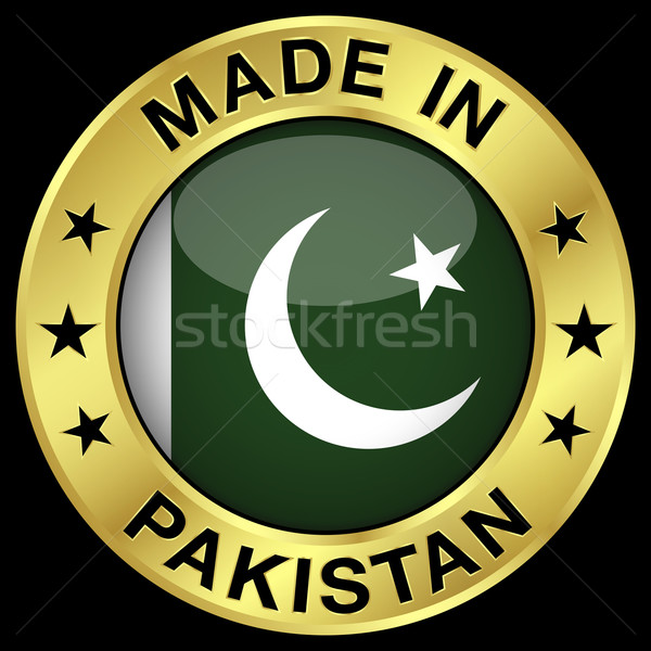 Pakistan badge or icône central Photo stock © NiroDesign