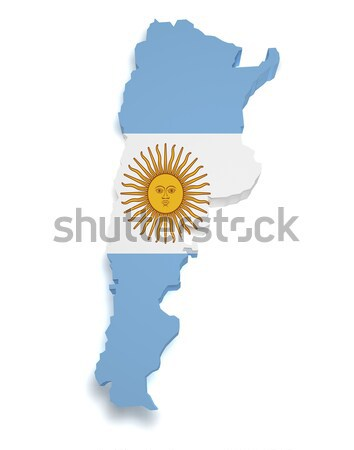 Argentina Map 3d Shape Stock photo © NiroDesign