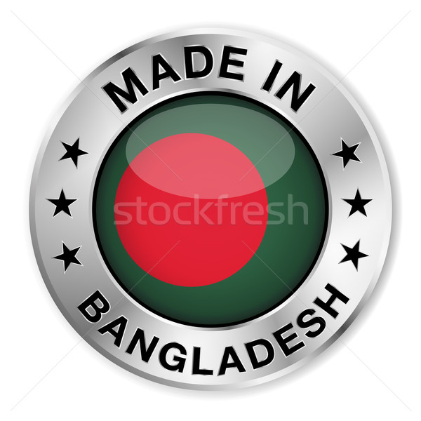 Bangladesh prata distintivo ícone central Foto stock © NiroDesign