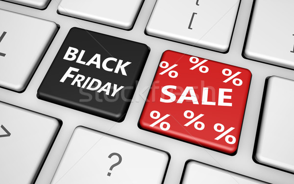 Black friday Shopping vente signe pour cent symbole Photo stock © NiroDesign