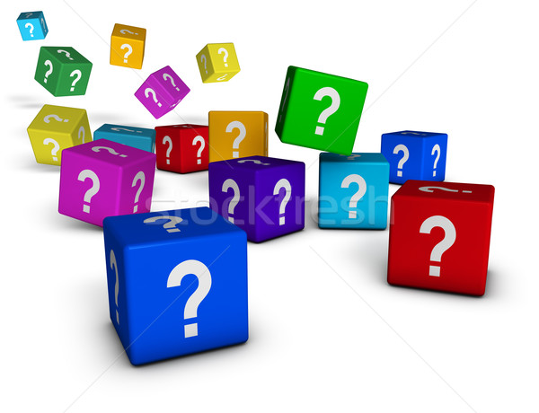 Question Marks Cubes Stock photo © NiroDesign