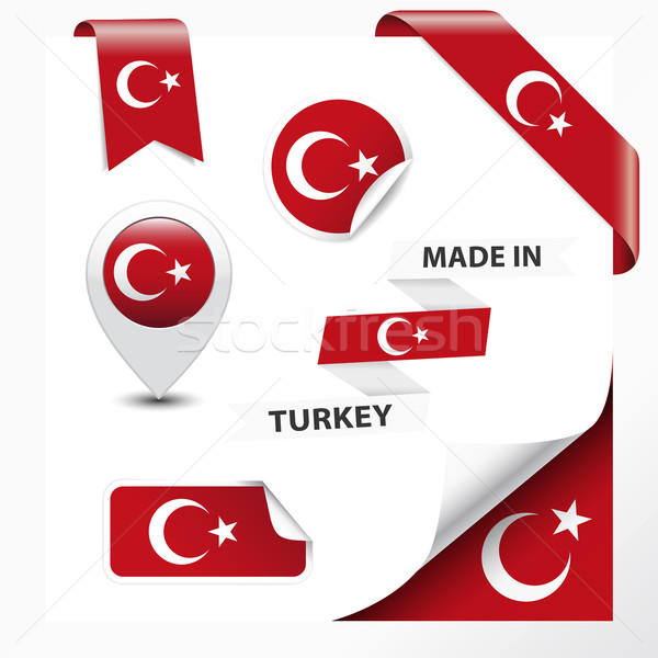 Turquia coleção fita etiqueta adesivos distintivo Foto stock © NiroDesign