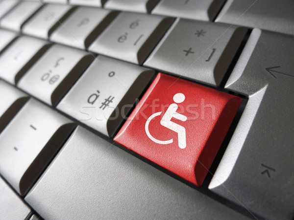 Stock photo: Web Accessibility Icon Symbol