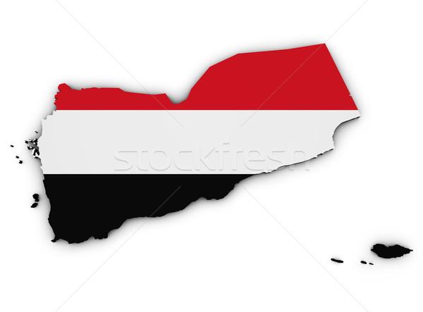 Йемен карта флаг 3D форма иллюстрация Сток-фото © NiroDesign
