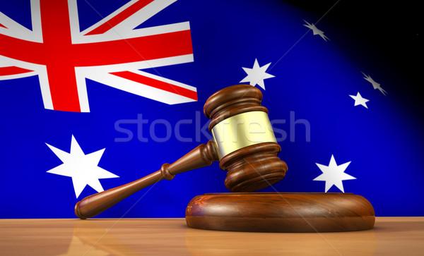 Legge giustizia 3D martelletto Foto d'archivio © NiroDesign