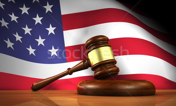 Stock photo: American Law Concept