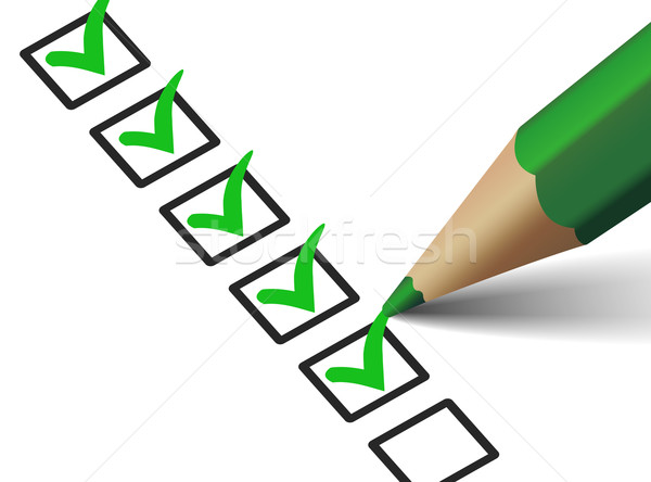Verde icona vettore verificare Foto d'archivio © NiroDesign