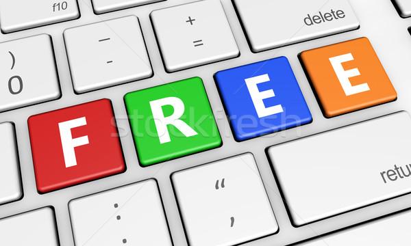 Free Sign On Keyboard Stock photo © NiroDesign