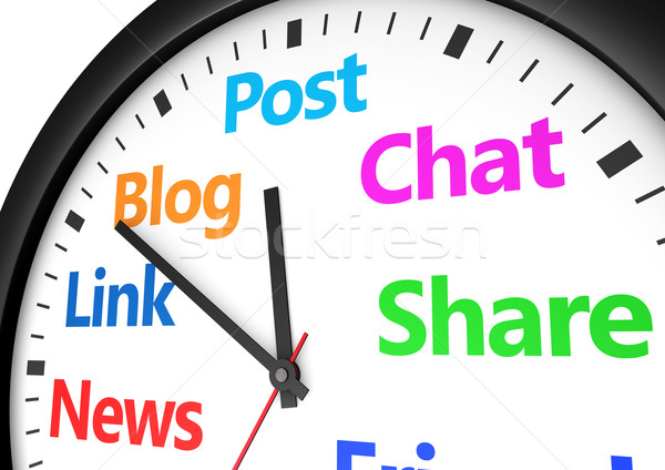 Social Media Networking Time Management Stock photo © NiroDesign