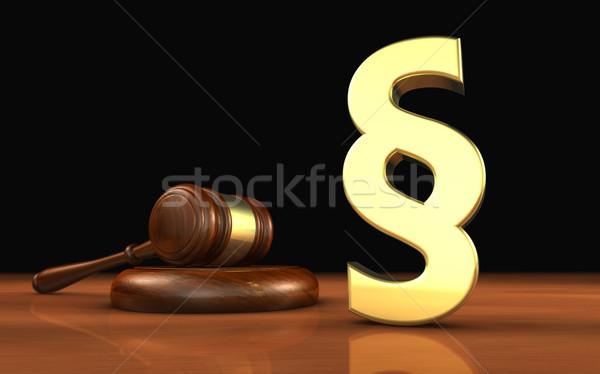 Paragraph Symbol Law Concept Stock photo © NiroDesign