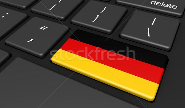 Germania bandiera computer pulsante chiave digitale Foto d'archivio © NiroDesign