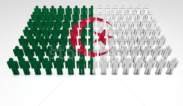 Algeria Flag Parade Stock photo © NiroDesign
