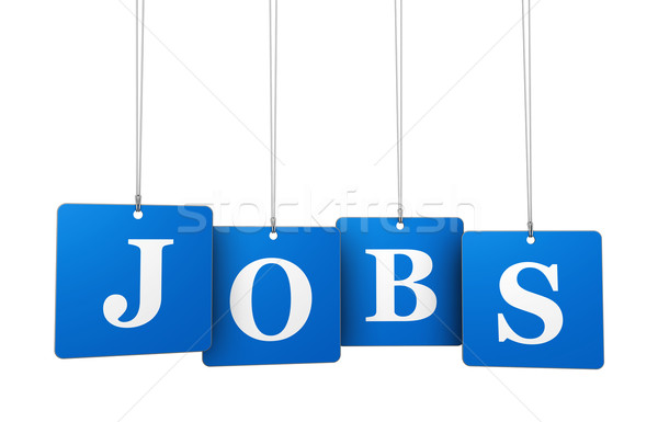 Jobs Sign On Tags Stock photo © NiroDesign