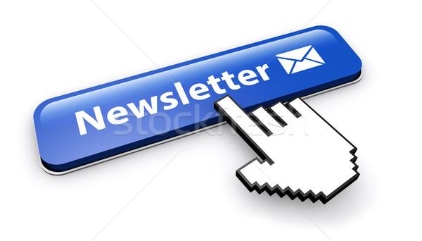 Bulletin bouton courriel icône signe Photo stock © NiroDesign