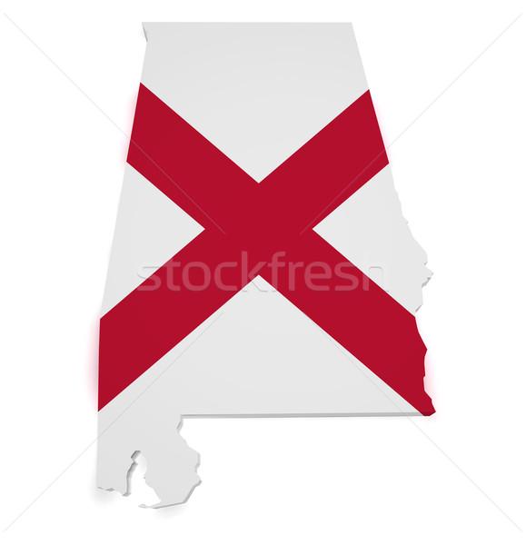 Alabama Map 3d Shape Stock photo © NiroDesign