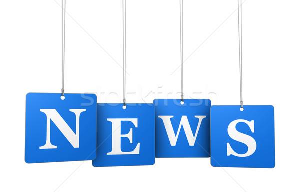 News bollettino trasmettere newsletter segno Foto d'archivio © NiroDesign