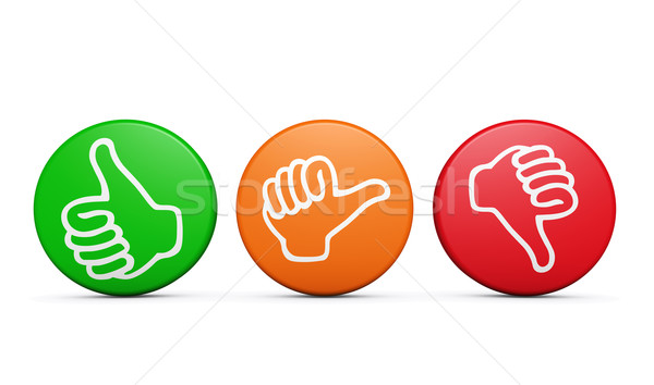 Customer Satisfaction Feedback Review Buttons Stock photo © NiroDesign