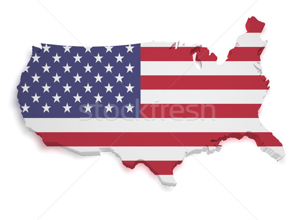 USA Map 3d Shape Stock photo © NiroDesign