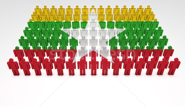 Burma Flag Parade Stock photo © NiroDesign