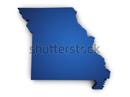 Mapa Misuri 3D forma azul Foto stock © NiroDesign