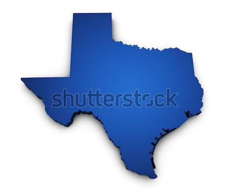 Map Of Texas State 3d Shape Stock photo © NiroDesign