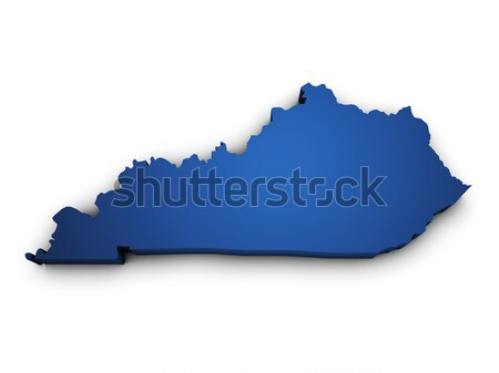 Stock photo: Map Of Kentucky State 3d Shape