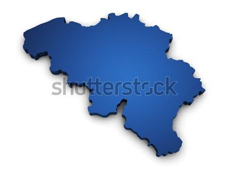 Map Of Brazil 3d Shape Stock photo © NiroDesign