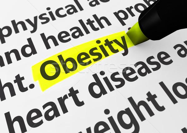 Obésité santé maladie 3D médicaux Photo stock © NiroDesign