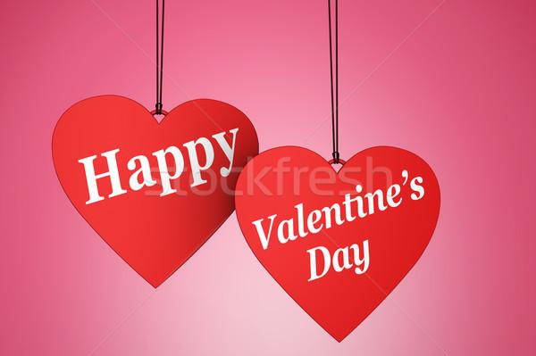 Happy Valentine s Day Heart Stock photo © NiroDesign