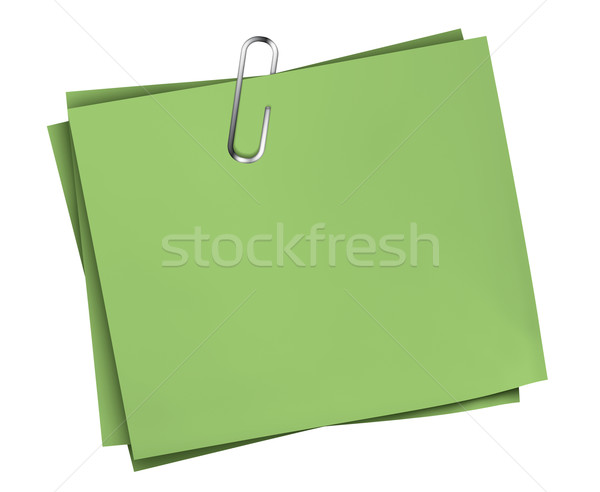 Green Business Note Paper Clip Stock photo © NiroDesign