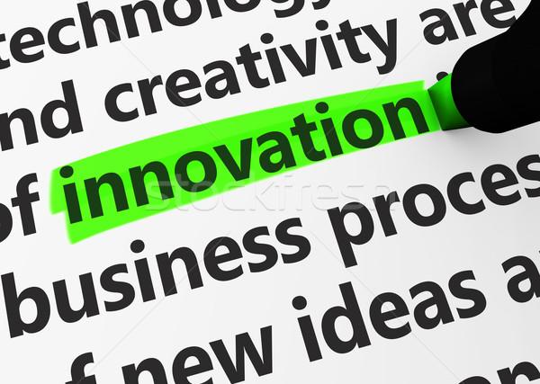Innovación negocios 3D palabras texto Foto stock © NiroDesign
