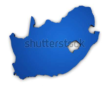South Africa Map 3d Shape Stock photo © NiroDesign