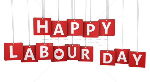 Mutlu işçi bayramı tatil imzalamak harfler Kanada Stok fotoğraf © NiroDesign