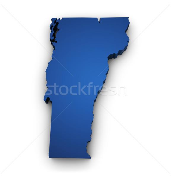 Mapa Vermont 3D forma azul Foto stock © NiroDesign