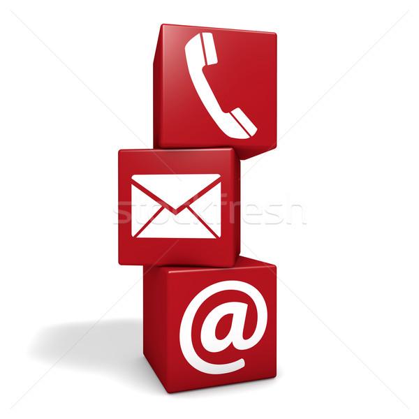 Háló kapcsolatfelvétel kockák internet oldal email Stock fotó © NiroDesign