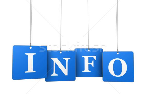 Info podpisania internetowych kontakt Zdjęcia stock © NiroDesign