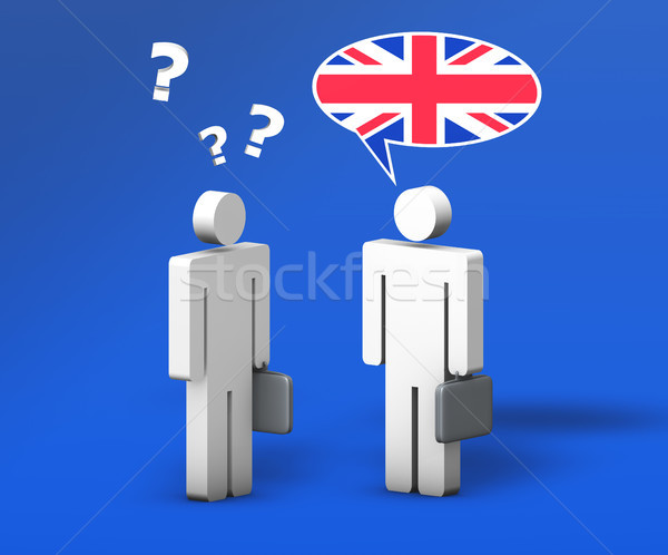 Business English Chat Stock photo © NiroDesign