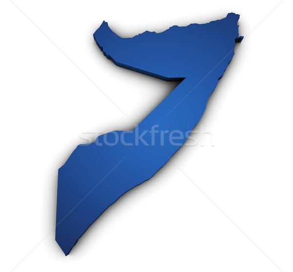 Carte Somalie 3D forme bleu Photo stock © NiroDesign