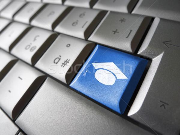Elearning Online Education Pc Key Stock photo © NiroDesign