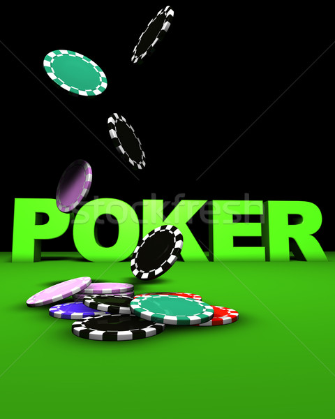 Poker Falling Chips Stock photo © NiroDesign