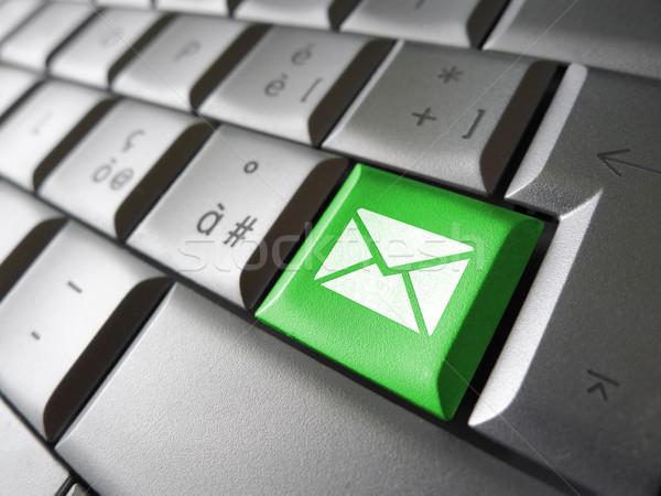 Kapcsolatfelvétel email gomb internet ikon szimbólum Stock fotó © NiroDesign