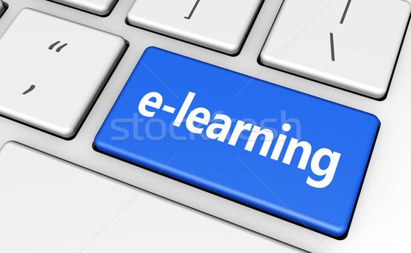 Online oktatás kulcs oktatás online felirat szó Stock fotó © NiroDesign
