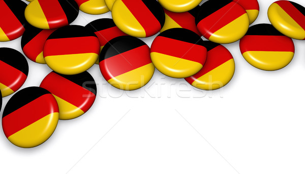 Germania bandiera pulsanti badge immagine giorno Foto d'archivio © NiroDesign