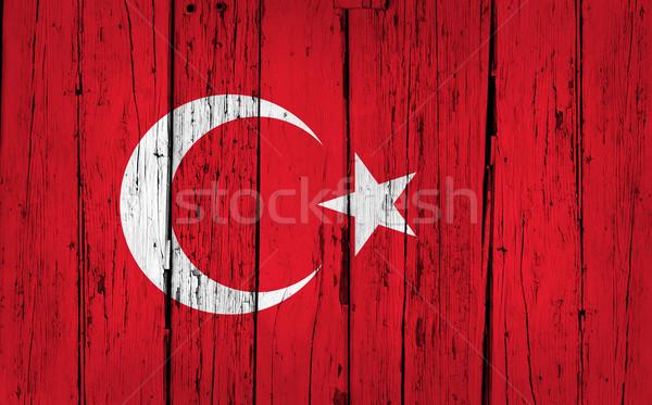 Turquía bandera grunge madera turco pintado Foto stock © NiroDesign